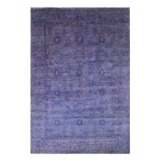 Overdyed Peshawar Cliftun Purple/Blue Rug, 9'11x14'8