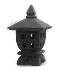 MSGinc. - Mini Oki-Gata Lantern - Garden Statues and Yard Art