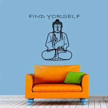 Yoga Meditation Buddha Quotes Wall Decals