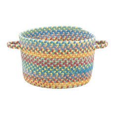 "Kill Devil Hill Braided Basket, Bright Multi, 20""x20""x12"""