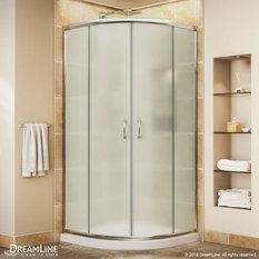 llc dba dreamline prime frameless sliding shower enclosure and slim line quarter round shower