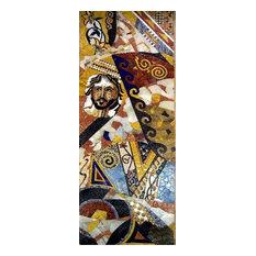 "Mozaico - Flash Cards, Modern Mosaic Abstract Art, 47""x118"" - Tile Murals"
