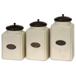 Farmhouse Kitchen Canisters And Jars by IMAX Worldwide Home