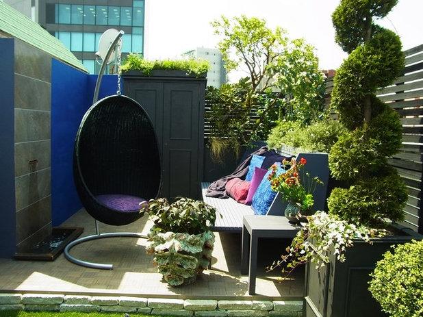 コンテンポラリー  by Kayoko Nagahama Garden Design & Construction