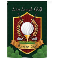 Sports Live, Laugh, Golf 2-Sided Vertical Impression House Flag