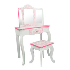 Fantasy Fields By Teamson Kids Fashion Prints S Vanity Table And Stool Set