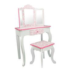 Fashion Print Children's Dressing Table and Stool Set, Giraffe
