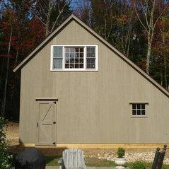 Saltbox Style Pole Barns
