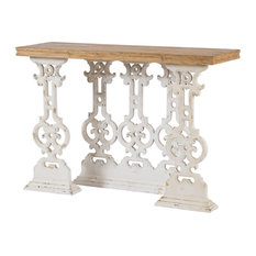 Anita Console Table In Weathered White