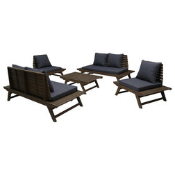 Midcentury Outdoor Lounge Sets by GDFStudio