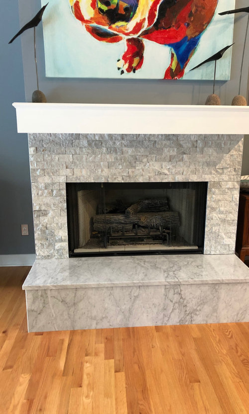 Fireplace Makeover Gone Wrong, Removing Raised Brick Fireplace Hearth