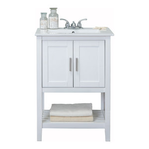 "Legion Furniture Sink Vanity Without Faucet, 24"", White"