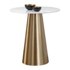 Liram Bar Table - Gold - White Marble