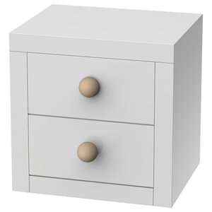 Bolas Bedside Table, 2 Drawers