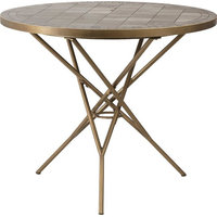 Bistro Table DOVETAIL DANBY Brushed Brass