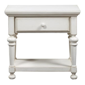 Comfort Pointe Alida Antique White Nightstand Comfort Pointe