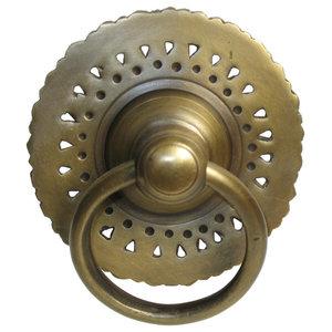 Sunburst Victorian Door Hardware Back Plate Rosette Polished Brass
