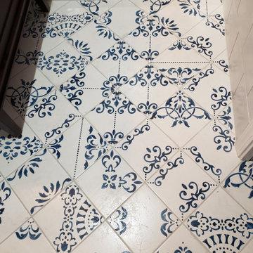 Classic Blue & White Bathroom