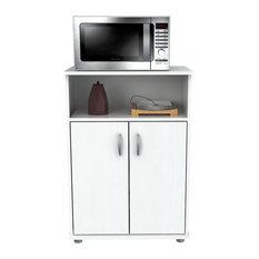 Inval Kitchen/Storage Cabinet, Larcinia White