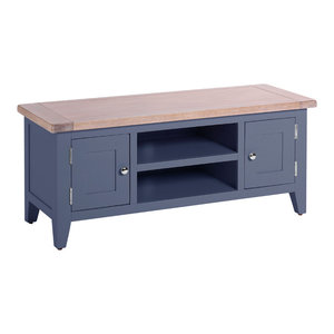 2-Door TV Unit, Dark Grey