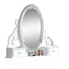 Flora Jewelry Mirror, White