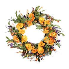 Orange and Purple Delight Wreath, 22
