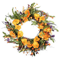 Orange and Purple Delight Wreath, 22