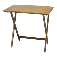 American Trails Arizona Folding Table With Solid Red Oak