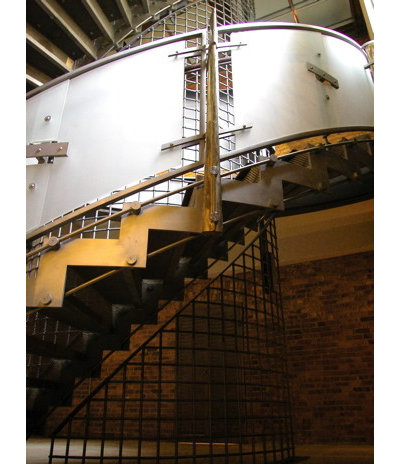 Industrial Staircase by Abelow Sherman Architects LLC