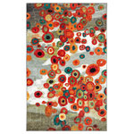 "Mohawk Home - Mohawk Home Strata Tossed Floral Multi, 7' 6""x11' - Care and Cleaning: Area rugs should be spot cleaned with a solution of mild detergent and water or cleaned professionally. Regular vacuuming helps rugs remain attractive and serviceable."
