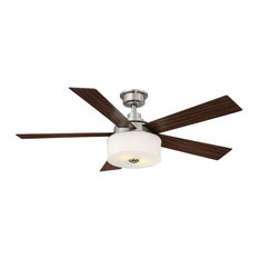 Home Decorators Collection Home Decorators Collection Lindbrook 52 In Brushed Nickel Ceiling Fan