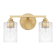 Capital Lighting 120521CG-422 Milan Bathroom Light, Capital Gold