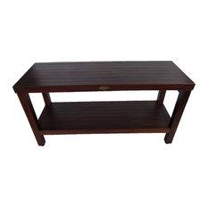"DecoTeak Classic 36"" Teak Shower Bench With Shelf"