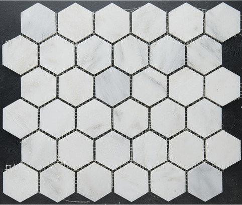 "1"" Hexagon Marble Mosaic - Tile"