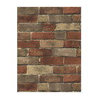 Bg21584 Rust Tan Grey Brick Wallpaper
