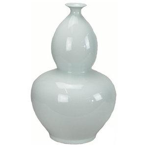 White Bottle Gourd Porcelain Vase