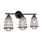 Ajax 3-Light Indoor Bathroom Vanity Light, Coffee Bronze
