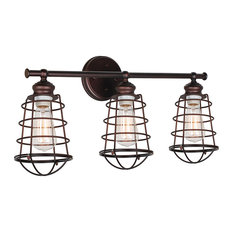Ajax 3-Light Vanity Light Galvanized, Bronze