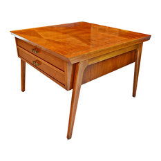 Attractive Lane Furniture   Consigned Mid Century Lane 900 Series Side Table With  Harlequin Inlay Top