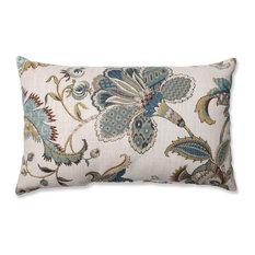 Finders Keepers Blue Rectangular Throw Pillow