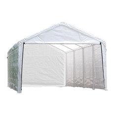 "12x30 White Canopy Enclosure Kit for 2"" Frame"