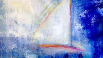 Blandade konstverk av Emilia Linderholm.