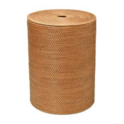 Laguna Round Rattan Hamper With Cotton Liner, Honey-Brown