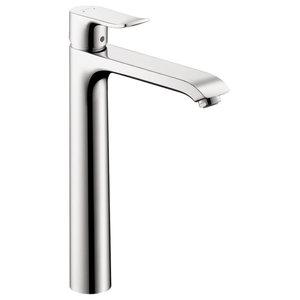 Metris Single-Handle Lavatory Faucet With Lever Handles, Polished Chrome