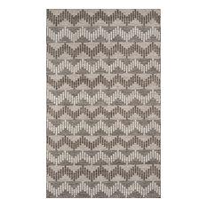 Mesa Hand-Woven Reversible Flatweave Rug, Gray, 9'x12'