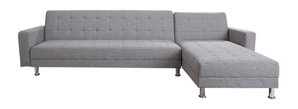 Frankfort Convertible Sectional Sofa Bed, Ash