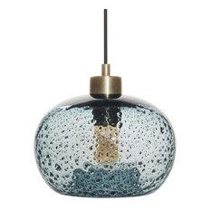 Casamotion - Mini Pendant Light Handblown Rustic Seeded Glass Hanging Light Blue - Pendant Lighting  sc 1 st  Houzz & Pendant Lights | Houzz azcodes.com
