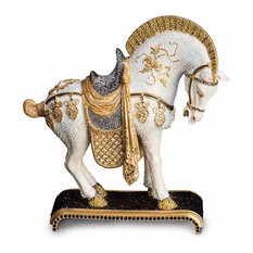 Jay Strongwater Braque Dynasty Horse Figurine Jet Crystal Finish