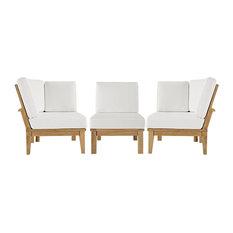 Modway Marina 3-Piece outdoor Patio Teak Sofa Set
