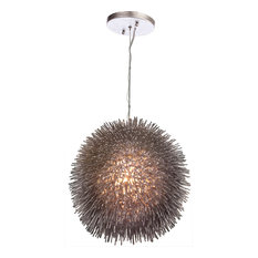 Urchin 1-Light Pendant, Painted Chrome, Large